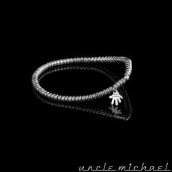 bracelet Uncle Michael Hématite argenté rondelle